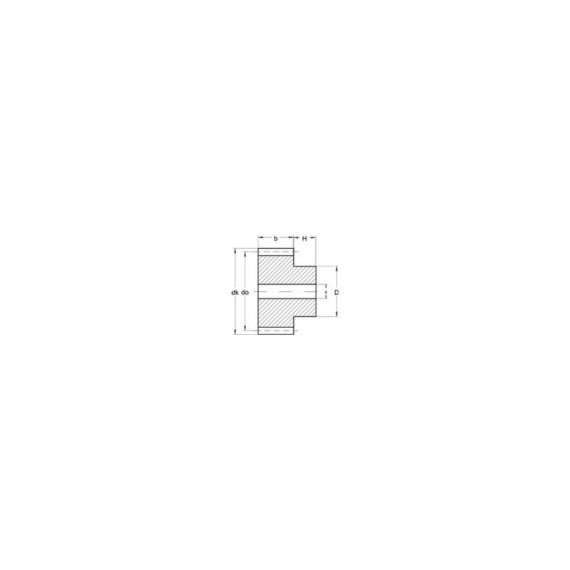 Module 0,3 en Laiton - Dents: 75