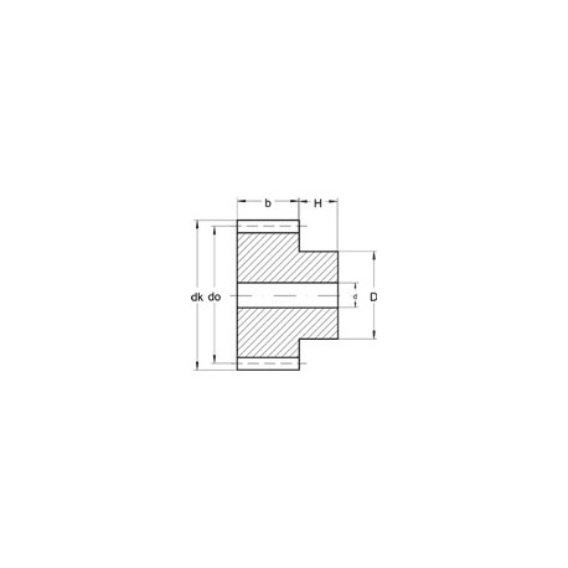 Module 0,3 en Laiton - Dents: 20
