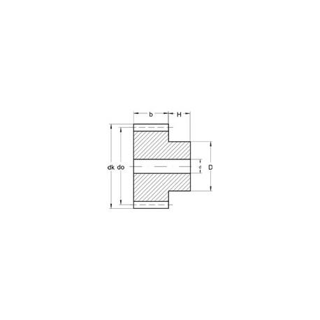 Module 0,3 en Laiton - Dents: 25