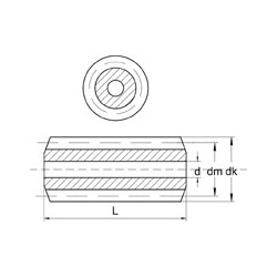 Vis sans fin module 0,4 acier - 1 filet à droite