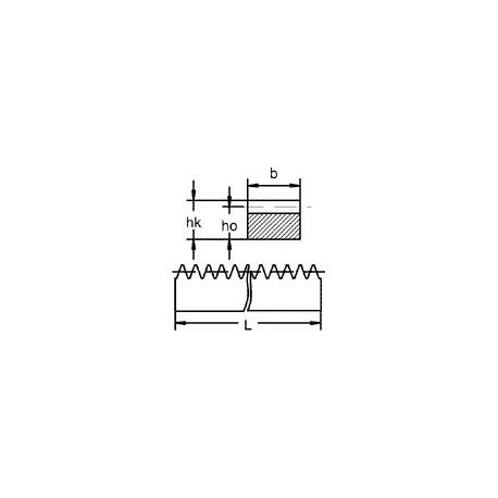 Crémaillère en POM denture droite module 0,5