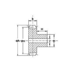 Roue module 0,5 à moyeu en PVC- Dents : 10
