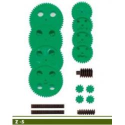 Jeu de roues dentées module 1 perçage des axes