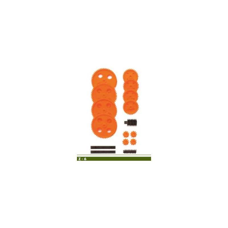 Jeu de roues dentées module 1 pour axes de 4mm