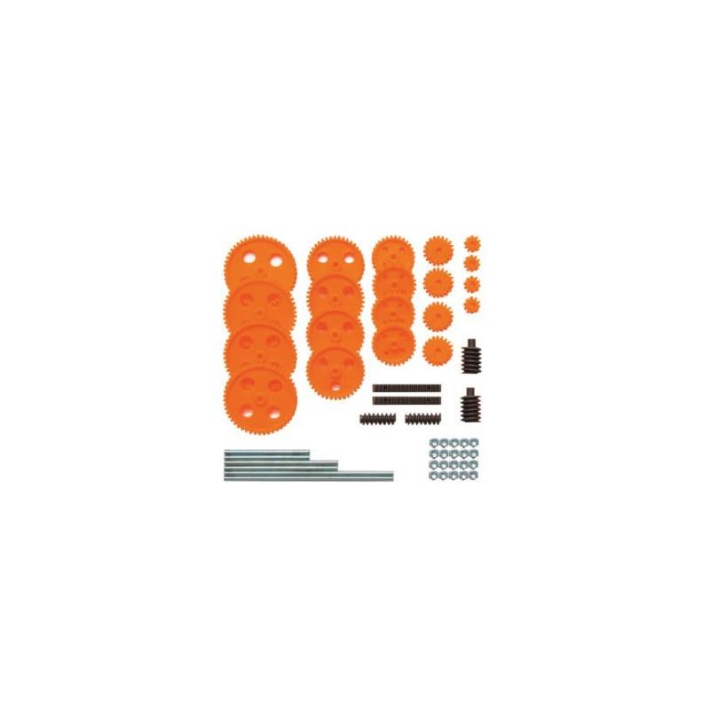 Jeu de roues dentées module 1 pour axes de 4 mm