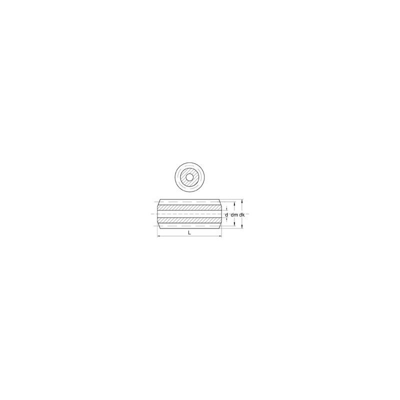 Vis sans fin module 0,5 acier