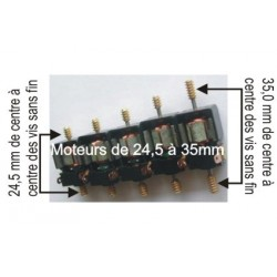 Moteur pour boitier Tenshodo - avec les vis sans fin - Entraxe : 24 -5mm