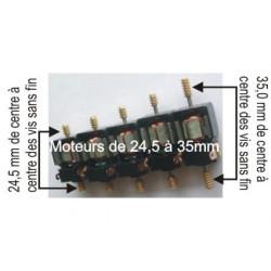 Moteur pour boitier Tenshodo - avec les vis sans fin - Entraxe : 28-7mm