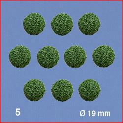 10 Boules pour têtes d'arbres, vert, 19 mm