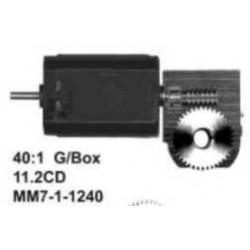 """Ensemble Romford - Réduction 40:1 Axe moteur 2,0mm - Axe de sortie 3/16"""""""