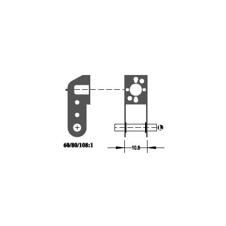 """Réducteur à 2 étages - Réduction 68:1 - Axe moteur 2,0 mm - Axe de sortie 1/8"""""""