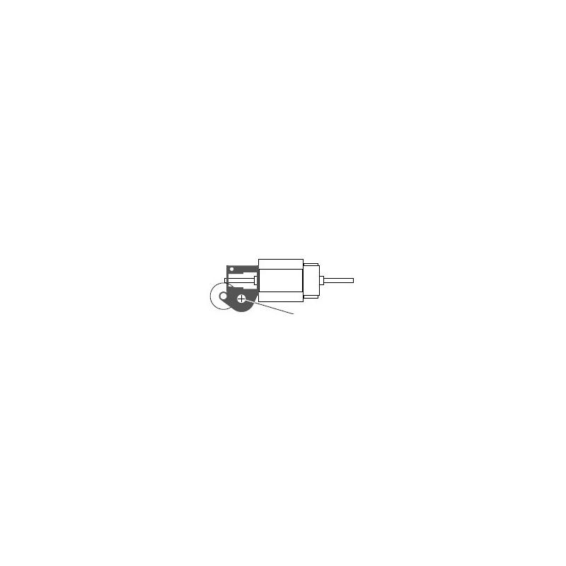 Réducteur à 2 étages - Réduction 80:1 - Axe moteur 1,5mm - Axe de sortie 2,0 mm