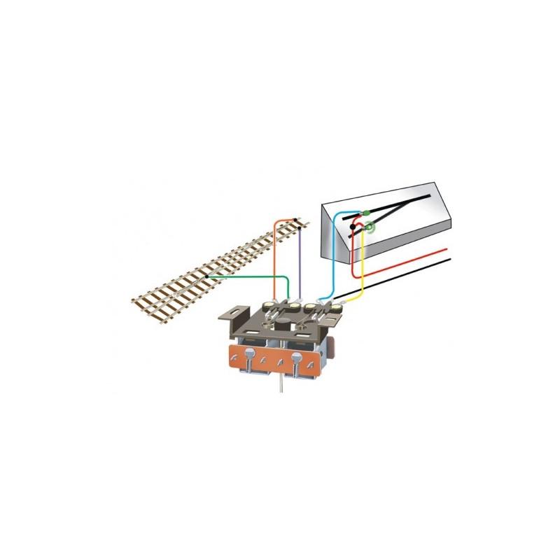 Interrupteur double - à fixer sous le moteur d'aiguillage PL-10