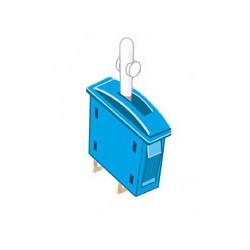 Interrupteur marche/arrêt bleu