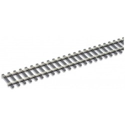 Rail maillechort Code 143 - traverses imitation bois - 12 pcs