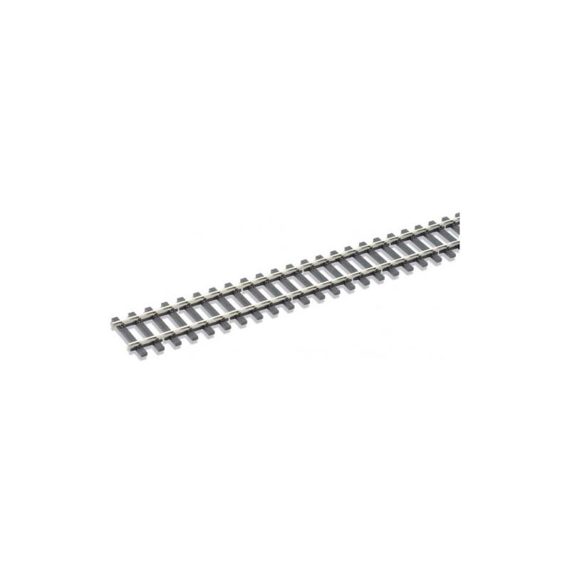 Rail maillechort Code 143 - traverses imitation bois - 12 pcs