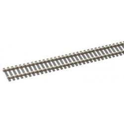 Rail maillechort - traverses imitation bois code 100 - 25 pcs