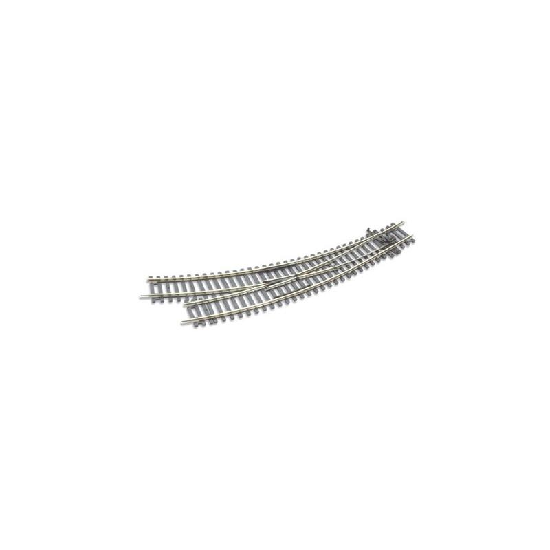 Rail courbe double rayon - aiguillage à droite - Insulfrog