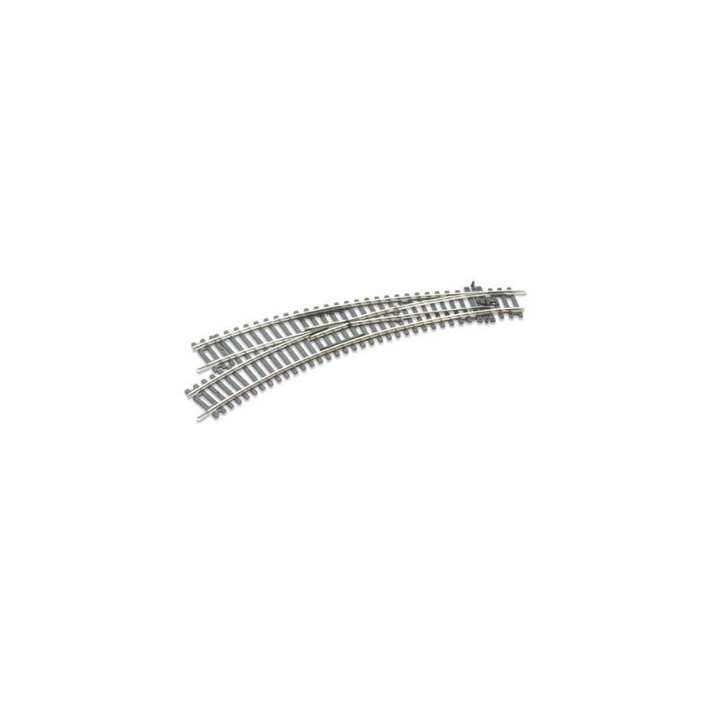 Rail courbe double rayon - aiguillage à gauche - Insulfrog