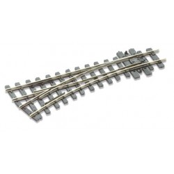 Aiguillage rayon à gauche - 304mm (12in) - Electrofrog