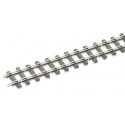 "Rail maillechort - traverses imitation bois code 80 (""Mainline"") - 25 pcs"