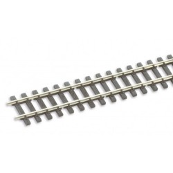 Rail maillechort - traverses imitation bois - 12 pcs