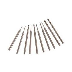 Jeu de 10 forets HSS 0,6 à 2,3 mm - Queue de 2,35mm