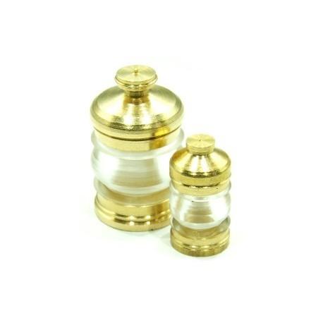 Lanterne 6mm 380° transparent + led jaune, la pièce