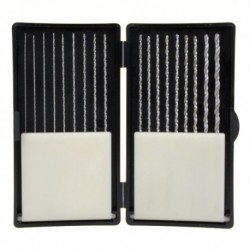 Coffret de 18 forets HSS extra longs 0,5 à 3,0 mm