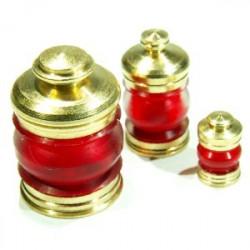 Lanterne 380° rouge + led rouge, la pièce