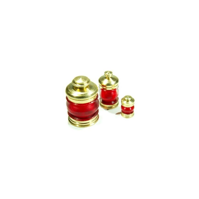 Lanterne 6mm 380° rouge + led rouge, la pièce