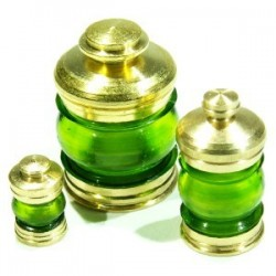 Lanterne 380° vert + led verte, la pièce
