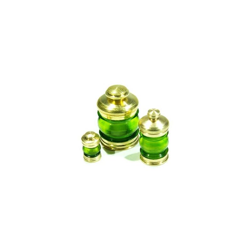 Lanterne 6mm 380° vert + led verte, la pièce