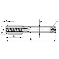 Taraud Machine DIN371 1 passe HSS M2 (1 pièce)