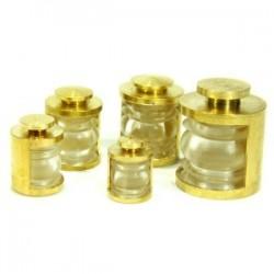 Lanterne 5,7mm 180° transparente + led jaune, la pièce