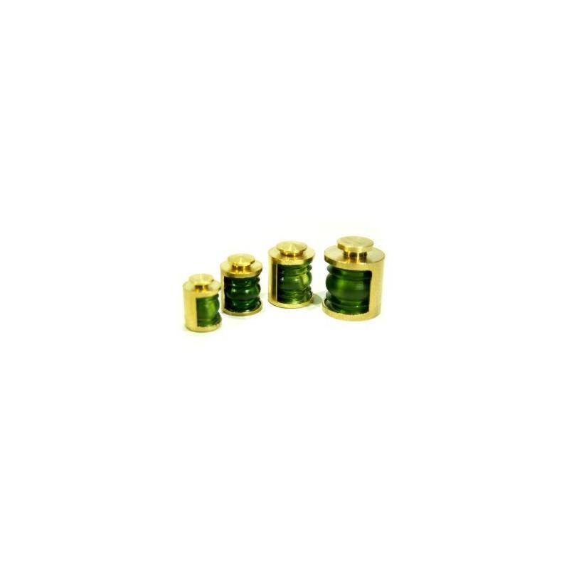 Lanterne 5,7mm 180° vert + led vert la pièce