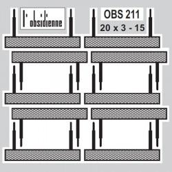 Marche-Pieds en bande (20x3 mm) - 10 pièces