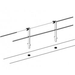 Poteaux pour barrières et balustrades - 2 Lisses