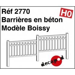 Barrieres en beton modèle Boissy
