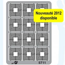 Grilles d'arbres maillechort 0,2 mm
