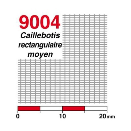 Caillebotis à mailles rectangulaires taille moyenne