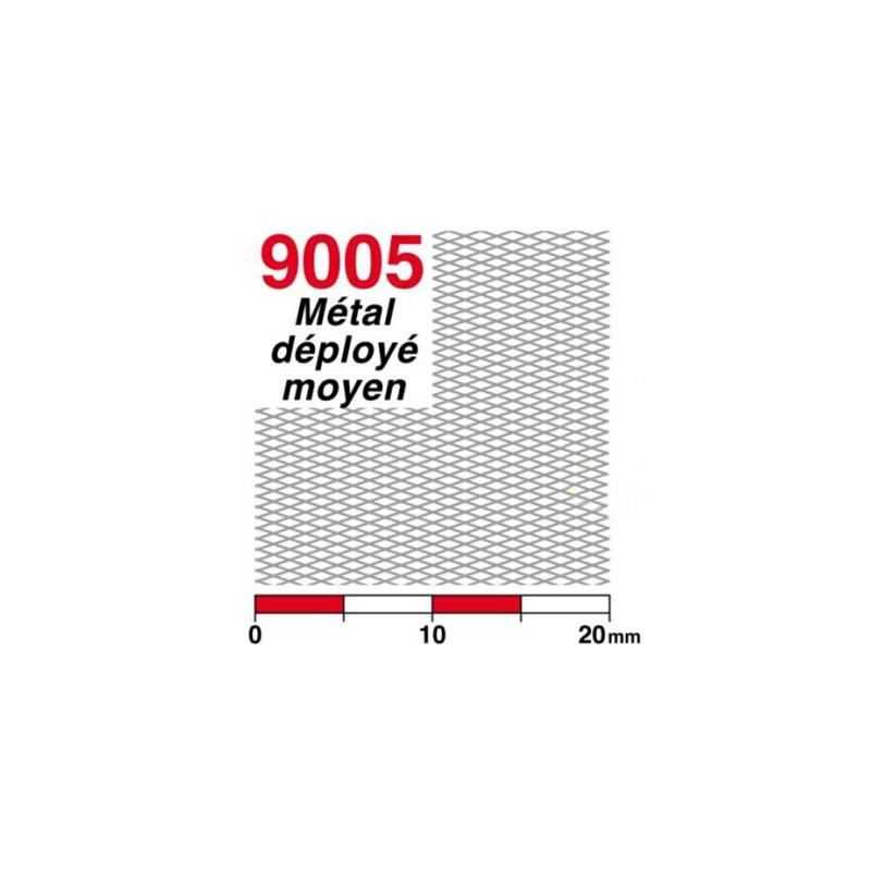 Métal déployé maille moyenne (laiton)