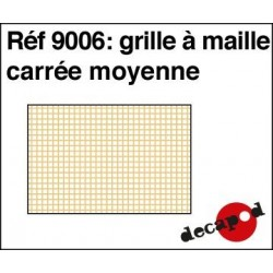 Grille à maille carrée moyenne