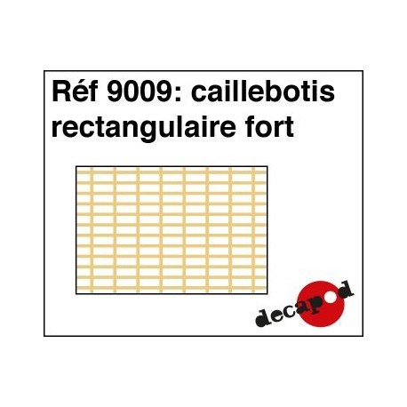 Caillebotis rectangulaire fort