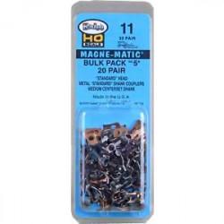 n°5 Bulk Pack / 20 paires de Kadee 05 sans les boitiers plastique