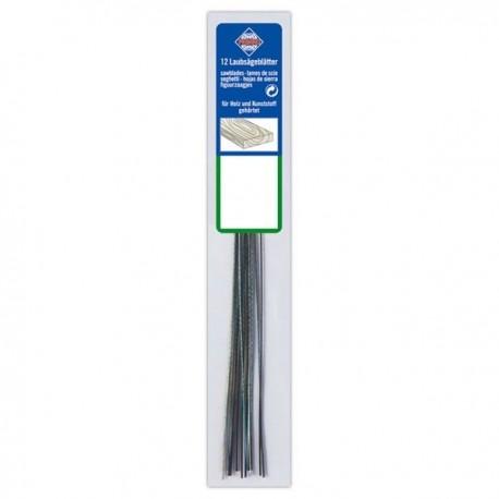 12 lames 130 mm bois pour scie à chantourner