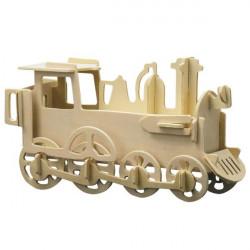 Puzzle en bois : La locomotive seule