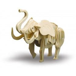 Puzzle en bois : L'éléphant