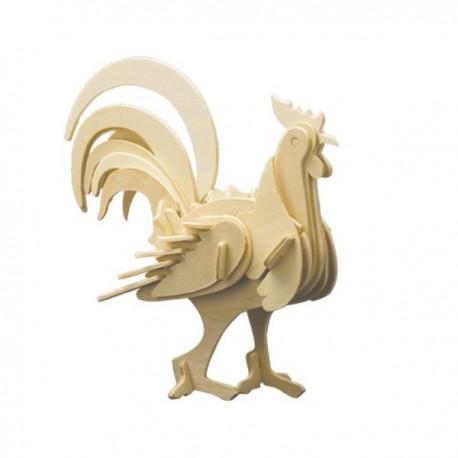 Puzzle en bois : Le coq