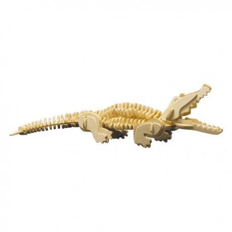 Puzzle en bois : Le crocodile